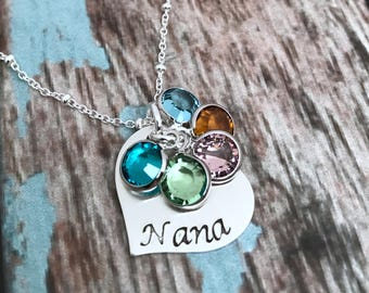 Mothers Day Gift for Grandma, Birthstone Necklace, Nana Necklace, Birthstone Necklace for Grandma, Birthstone Jewelry, Mom Jewelry