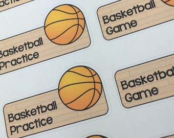Basketball Practice/Game Planner Stickers for Erin Condren, Plum Paper, Happy Planner, InkWELL