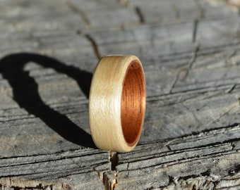 bentwood ring | wood ring | wood band | wood wedding band | maple ring