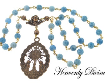Handmade Bronze Beads of the Blessed Sacrament Chaplet