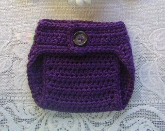 Crochet Diaper Cover - In Any Color - Photo Prop - Available in 0 to 3, 3 to 6, 6 to 12 and 12 to 24 Months