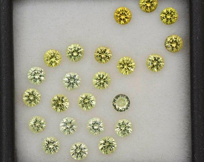 FLASH SALE! Gorgeous Yellow Grandite Garnet Gemstone Set from Mali 3.22 tcw.