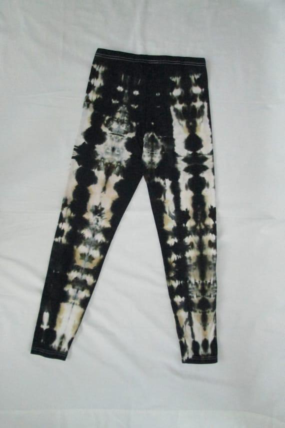 Better Black Womens Tie Dye Leggings/Hand Dyed/Womens Tie Dye/Black/Eco-Friendly Dying