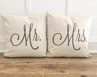Mr. & Mrs. Pillow Cover Set