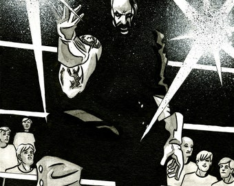 Undertaker Original Inked Illustration