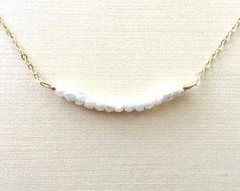 Silverite Necklace, Silverite Bar Necklace, Layering Necklace,