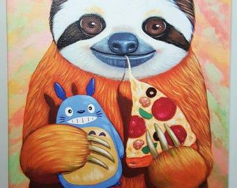 Sloth's Favorite Things Canvas Print