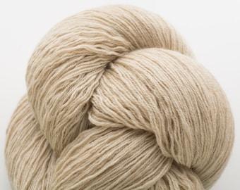 Light Khaki Merino Fingering Weight Recycled Yarn, MER00125