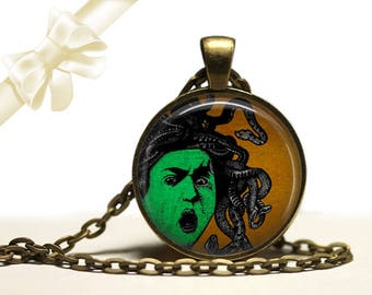 Medusa Necklace brass Pendant Necklace Free Shipping Gifts for her