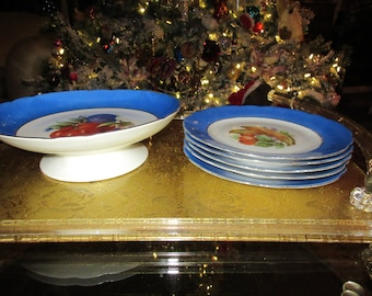 SALAD BOWL with PLATES
