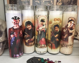 St GOONIES Sloth Chunk Mikey Data Mouth Prayer Candles