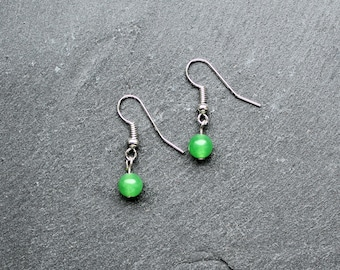 Earrings Jade Green