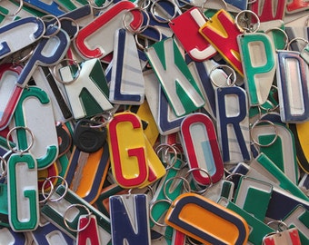 Recycled License Plate Keychains