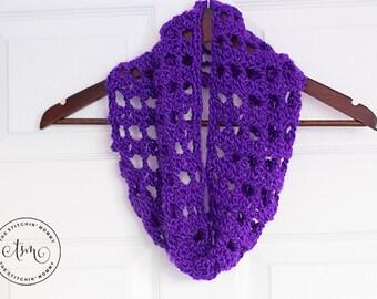 PDF Crochet Pattern - Amethyst Lace Cowl
