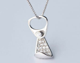 First pledge,ring-pull can,925 silver, necklace