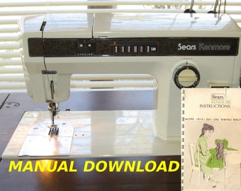 Sears Kenmore model 1814 sewing machine Owners manual Kenmore Sewing manual Sewing instructions Sears owners manual Kenmore sewing Sears mod