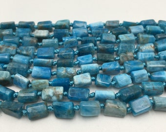 Natural Apatite Irregular Tube Shape Smooth Gemstone Loose Beads Size Approx 5x8mm