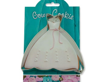 Wedding Gown Cookie Cutter 4 inches - Ann Clark - Baking, fruit, brownies, crafts, Made in the USA (28-058)