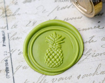 Buy 1 Get 1 Free - 1pcs Pineapple Gold Plated Wax Seal Stamp (WS266)