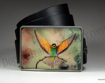 Bird Belt Buckle Sparrow Swallow in Flight with Handpainted Accents Unique Belt Buckle Womens Belt Buckles Womens Gift Mothers Day Gift