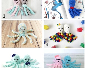 Crochet Octopus, NICU Octopus, Stuffed Octopus, Preemie Octopus, Crocheted Octopus, NICU Toy, Baby Gift, Baby Octopus, Crochet Toy, Baby