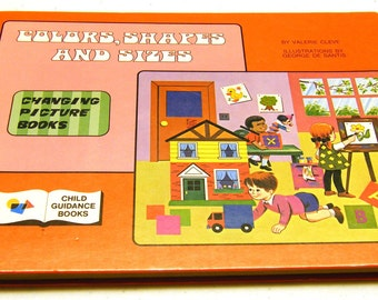 Color, Shapes & Sizes - Vintage Changing picture book