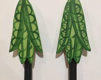 Garden marker green peas