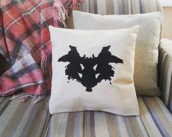SALE Rorschach Shabby Chic Rustic Pillow cover Handmade Home Decor Cotton Pillow Case Romantic Sofa Cushion Cover