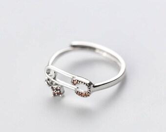 orange CZ ring