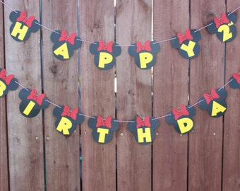 Minnie Mouse Happy Birthday Sign