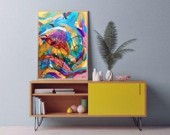 Modern Abstract Art   Just Keep Dancing