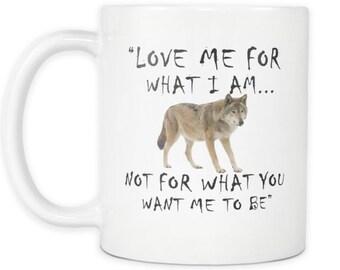 Wolf Mug, Wolf Coffee Mug, Wolf Tea Cup, Wolf Mug for her, Wolf Gift, Wolf Gift Idea