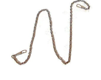 24 Inch Nickel Purse Chain With Hooks  FREE U.S. SHIPPING