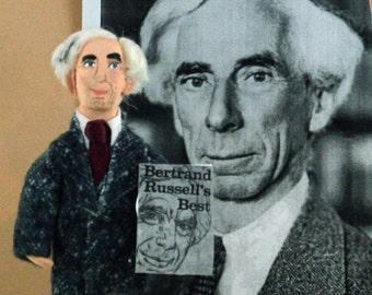 Historical Art Doll Bertrand Russell One of Kind Miniature Character by Uneek Doll Designs