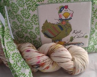 Knit Chick bag, Project bag, Knitting bag,