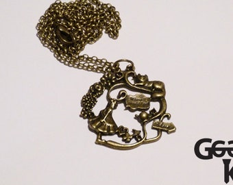 Alice in the Garden, alice in wonderland necklace, gifts for her, statement pendant