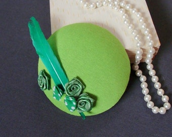 fascinator all in green