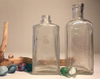 2 Vintage Medicine Bottles, Sloan's Liniment 1890's