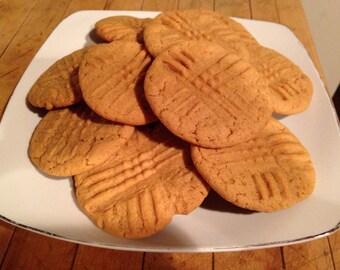 Peanut Butter Cookies 1 Dozen FREE SHIPPING