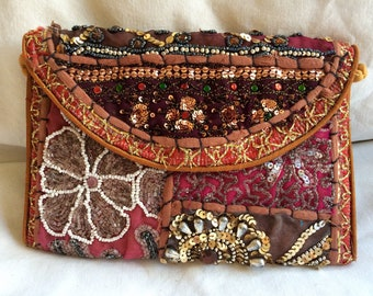 Gorgeous jewelled clutch, evening bag from Rajasthan