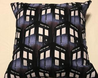 16x16 Tardis Pillow