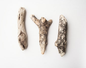 3x CHUNKY DRIFTWOOD PIECES, English drifted wood, organic craft supplies, natural raw materials, drift wood branches, wood for craft, diy
