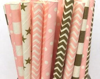 2.75 US Shipping -Paper Straws - Straws - Cake Pop Sticks - Drinking Straws