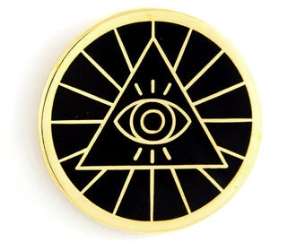 Illuminati Enamel Pin