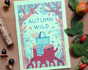 Autumn Wild - Plant Zine Comic Risograph Handmade