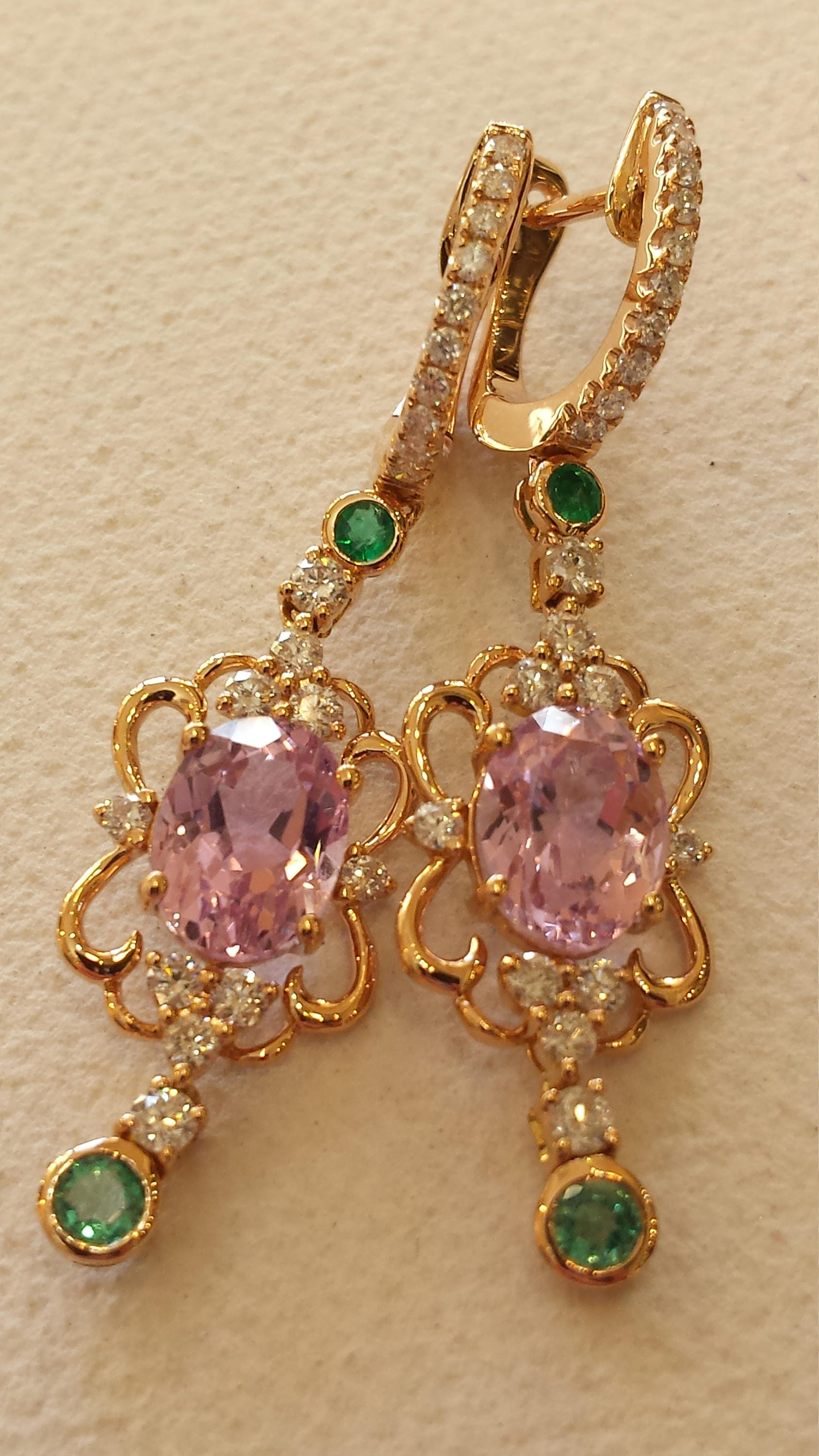kunzite janice sterling in ocean girardi and white silver quartz earrings dangle