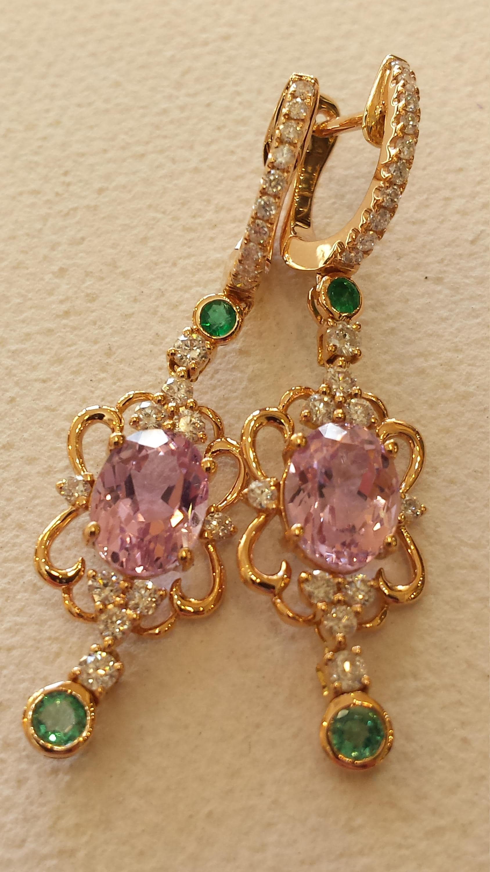 pin real kunzite co earrings cushion diamonds jewellery with