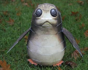 Porg DIY Star Wars The Last Jedi Paper Craft