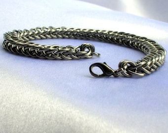Chainmaille Bracelet, Half Persian, chainmaille jewelry, chain jewelry, persian chainmaille, sca jewelry, renfaire jewelry