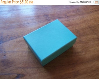 TAX SEASON Stock up 100 Pack Teal Blue Cotton Filled 11 Size Cotton Filled Boxes 1  7/8 Inch by 1  1/4 inch by 7/8 Inch Size